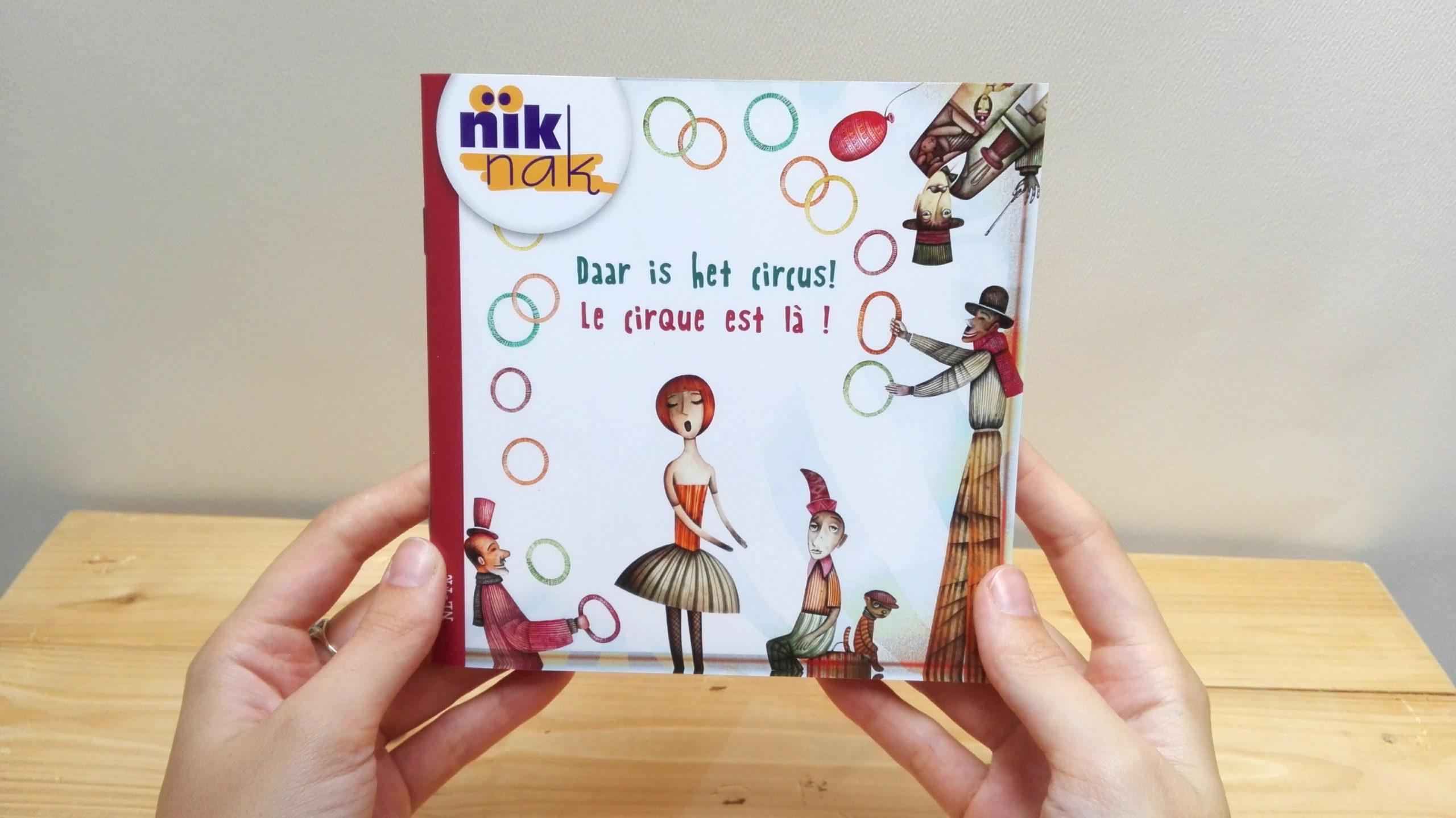 Daar is het circus! - cover met Frans - tweetalig kinderboek van nik-nak