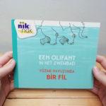 Een olifant in het zwembad - cover met Turks - tweetalig kinderboek van nik-nak