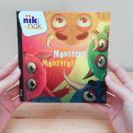 Monsters - cover met Portugees - tweetalig kinderboek van nik-nak