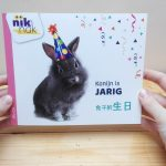 Konijn is jarig - cover met Chinees - tweetalig kinderboek van nik-nak