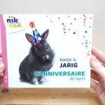 Konijn is jarig - cover met Frans - tweetalig kinderboek van nik-nak