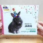 Konijn is jarig - cover met Italiaans - tweetalig kinderboek nik-nak