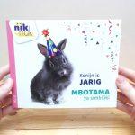 Konijn is jarig - cover met Lingala - tweetalig kinderboek van nik-nak