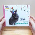 Konijn is jarig - cover met Turks - tweetalig kinderboek van nik-nak