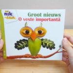 Groot nieuws met Roemeens - cover - tweetalig kinderboek van nik-nak