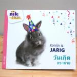 Konijn is jarig - tweetalig kinderboek Thai