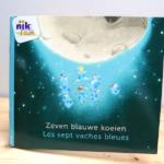 Zeven blauwe koeien - tweetalig kinderboek met Frans