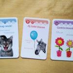 complimentenprenten meertalig spel kwartet kaarten nik-nak
