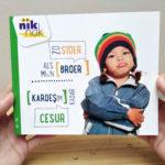 Zo stoer als mijn broer met Turks - cover - tweetalig kinderboek van nik-nak