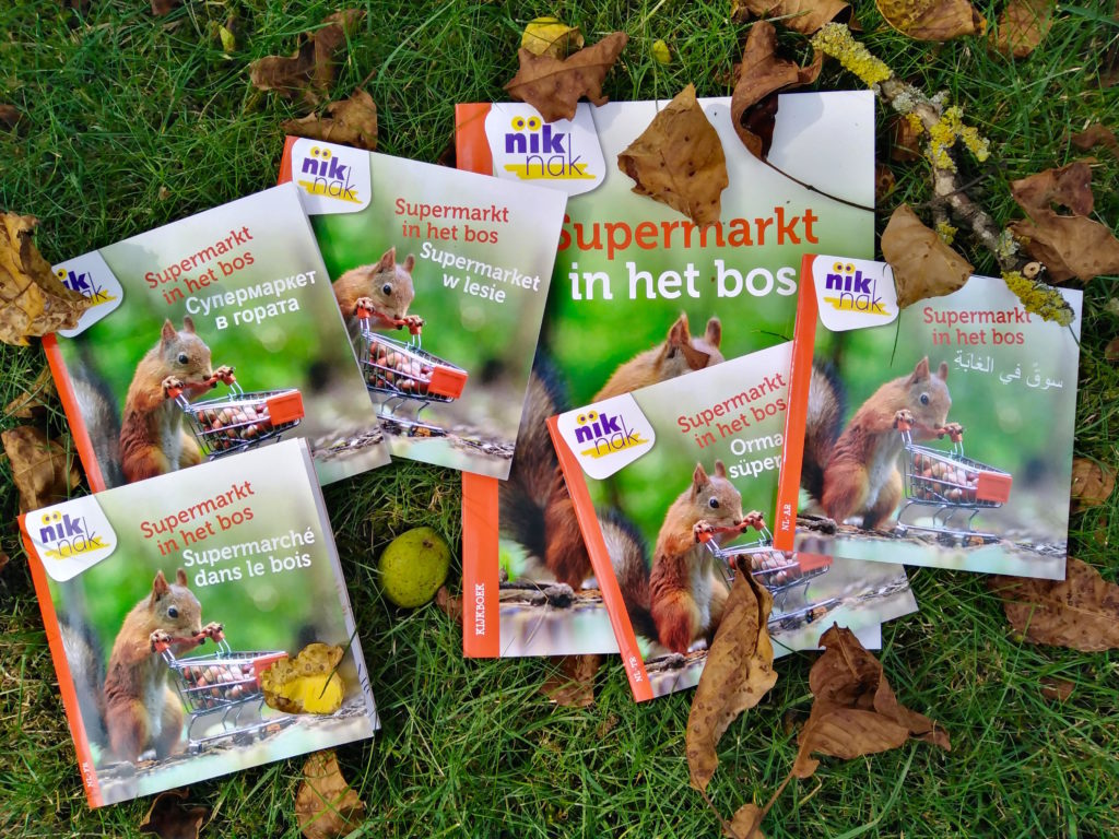 Supermarkt in het bos - tweetalige kinderboeken van nik-nak