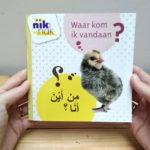 Waar kom ik vandaan? cover met Arabisch - tweetalig kinderboek nik-nak
