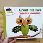Groot nieuws tweetalig kinderboek Nederlands-Pools
