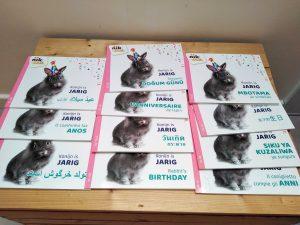 Konijn is jarig tweetalig kinderboek