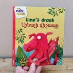 Lina's draak tweetalig kinderboek Armeens_cover